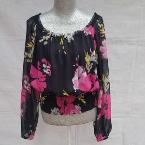 Charter Club Floral Sheer Top Plus Size